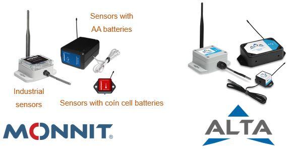 MONNIT and ALTA sensors