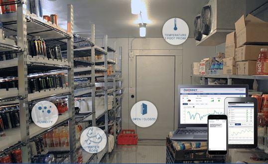 Aplicación de refrigeración y con sensores de monitoreo inalámbricos MONNIT